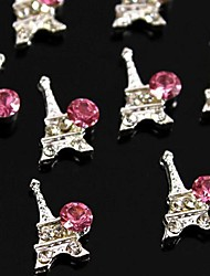 10pcs    New Eiffel Tower DIY Rhinestone Accessories Nail Art Decoration