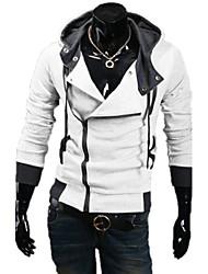 Escudo LangTuo delgado coreano Cardigan con capucha (Blanco)