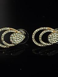 Women's Rhinestone Gold-Plating Earrings