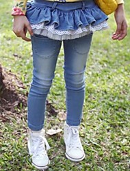 Girl's Denim Jeans , All Seasons