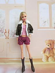 Barbie Doll Korean Style Green Suit
