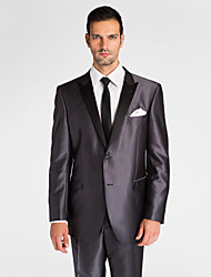 (Premium) Dark Gray Polyeter Tailored Fit Two-Piece Tuxedo