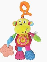 babyfans ™ cute baby scimmia a forma di voce musica peluche burattino flessibile giocattoli appesi educativi