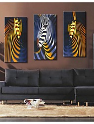 Personalized Canvas Print  Abstract Zebra  30x 60cm   40x80cm  50x100cm Gallery Wrapped Art  Set of 3