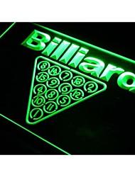 billares J021 sala signo luz de neón