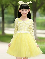 Girl's Cotton Long Sleeve Dress