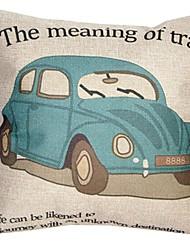 """createforlife® 18 """"travesseiro decorativo quadrado roupa retro carro cartoon algodão"""