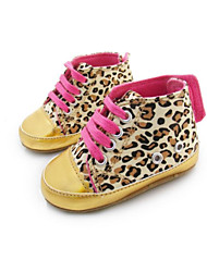 Girl's Flats Spring / Fall / Winter First Walkers / Crib Shoes Twill Athletic Flat Heel Animal Print Animal Print