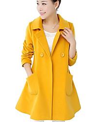 lapela tweed pescoço casaco dealcoo das mulheres