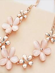estilo coreano ojos flor gato de las mujeres mágicas de cristal crisantemo collar corto