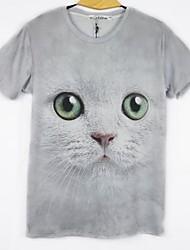 LY1982 Man's Floral Print Three-Dimensional Creative Short Sleeve T Shirt