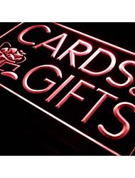 carte i505&regali negozio di visualizzazione richiamo luce al neon segno