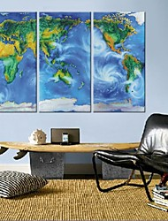 Stretched Canvas Art Earth Plan Set of 3