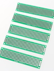protótipo PCB em branco PCB 2 camadas laterais dupla 2 x 8 centímetros protoboard (5pcs)