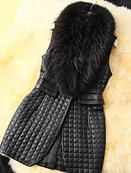XT Check Fur Waistcoat_14 (Black)