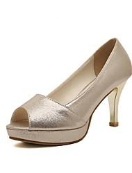 Smandy Damenschuhe Peep Toe Plattform Pfennigabsatz Pumpen-Schuhe (weitere Farben erhältlich)
