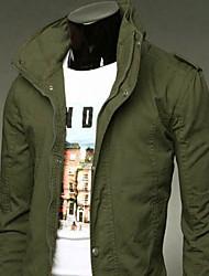 jeansian мужские случайные стенд воротник coat_9024
