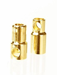 6.5mm Gold Plated Connector Male and Female,Body:Brass,Amps:120-180A (10Pairs)