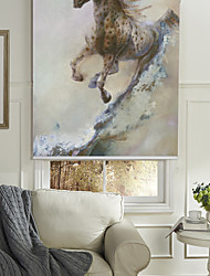 Oil Painting Style Horse Roller Shade