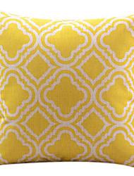 желтый бриллиант хлопок / лен декоративная наволочка
