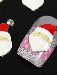 10pcs papai noel para dicas xmans dedo acessórios nail art decoração