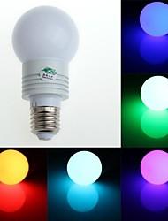 RGB светодиодные лампы с пультом ДУ - белый серебряный (AC85 ~ 265V) 150lm 3W E27