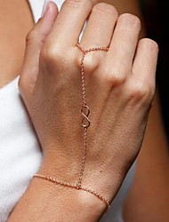 Women's Fashion  Even Live Fingers Number Eight Bracelet