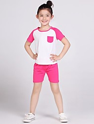 LangSha® Girls T-shirt Candy Color Suits