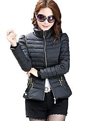 Women's Slim Down Coat Winter Jacket Thermal Plus Size Cotton Outerwear More Colors