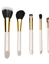 5PCS Professional High Quality Makeup Brush Pearl Handle Sets