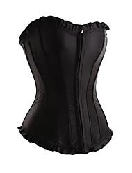 satin lingerie sexy plastique désossage corset shapewear (plus de couleurs) shaper