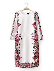 Women's Printing Half Sleeve Slim Dress