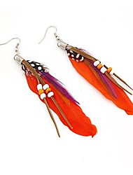 Fashion Beaded Feather Earrings(More Colors)