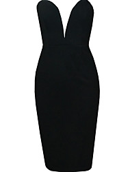 bali mode bandeau de couleur unie conbody silm robe sexy