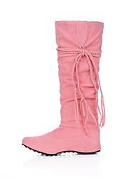 Lobo Women's Fashion Suede Tie Boots