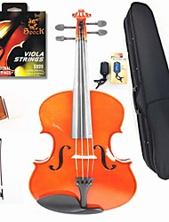 16 Inches In Natural Color Viola+The Strings+Rosin+Bow+Box