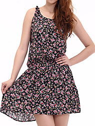 Floral Print Sleevless Dress