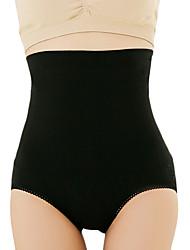 Fajas Transpirabilidad / Listo para vestir / Que no suelta pelusas Nilón / Spandex / Chinlon Sin costura / Liso Briefs Alta cintura