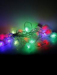 4m 20 leds Halloween Noël des lumières décoratives de fête des lumières bande-boule de fourrure (220v)
