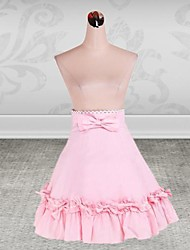 Knee-length Pink Cotton Sweet Lolita Skirt