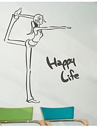 jiubai ™ vie heureuse mur de sticker mural de décoration d'intérieur autocollant
