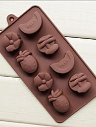 8 agujeros moldes de chocolate pastel de serie shape jalea de fruta hielo, silicón 20.7 × 10.6 × 2 cm (8.1 × 4.2 × 0.8 pulgadas)