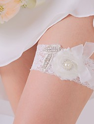 Garter Lace Ribbon White