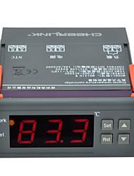"cheerlink mh1210w AC 90 ~ 250V 3W 1.7 ""inteligente controlador de tela digital de temperatura - preto"