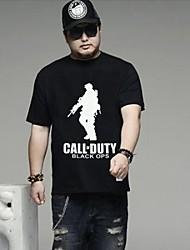 Men's  Big  Size  Round Collar Short Sleeve Plus Size  T-shirt