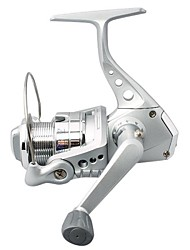 Spinning Fishing Reel 3000 Size 2BB 0.20/200mm/m Silver