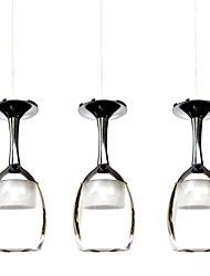 3wx3 lightmyself® levou luz xícara lustre lâmpada pingente luz copo de vinho para sala de estar bar saloon sala de jantar