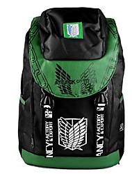 ataque a titan verde corpo de pesquisa&cosplay mochila preta / bag