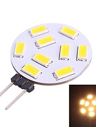G4 1.2W 350LM 3200K 9x5730 Warm White LED Light Bulb(DC 10-30V)