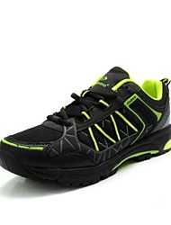 TIEBAO Unisex Black+Fluorescence Green Ultra-light Anti-slip Casual Cycling Shoes